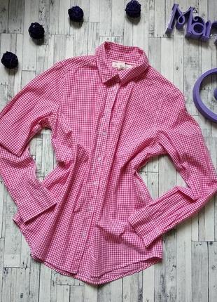 Рубашка женская h&m в клетку