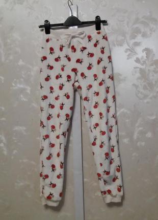 Мягенькие плюшевые пижамные штаны с птичками new look