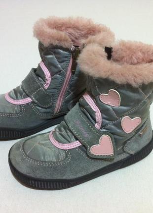 Мега удобные утепленные сапоги ,ботинки  primigi с gore-tex 🍂❄️ р. 26 оригинал ❗италия  ❗
