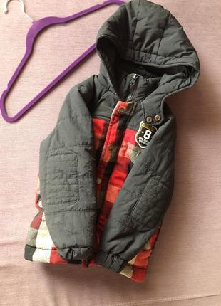 Теплая куртка теплая original bestway brand 5/6 лет