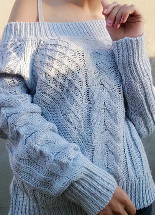 Свитер в косичку джемпер chicoree кофта пуловер2 фото