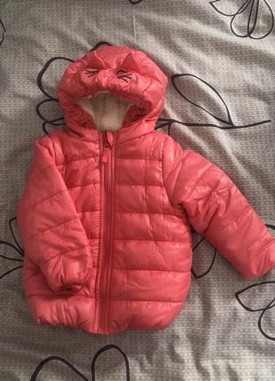 Курточка тепла осіння на дівчинку