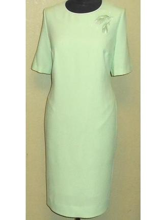 Белорусские платья ! шикарное ,эффектное платье, golden valley , р. 52 , цвет нежная мята
