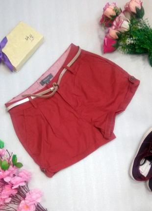 Стильные кирпично красные шорты короткие хлопок  от primark uk8/eur36 usa4
