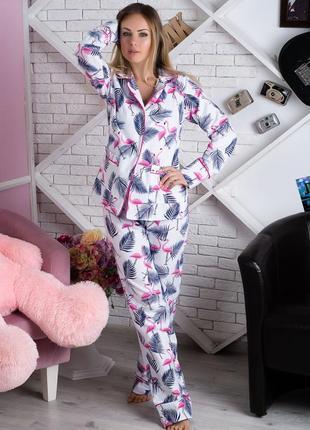 Пижама фланелевая фламинго (есть другие расцветки)2 фото