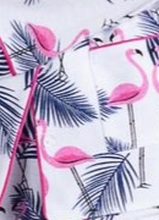 Пижама фланелевая фламинго (есть другие расцветки)6 фото