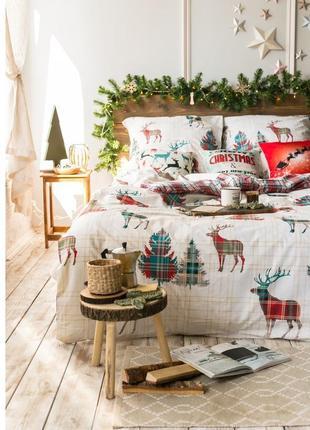 Скандинавия - новогоднее постельное белье из поплина