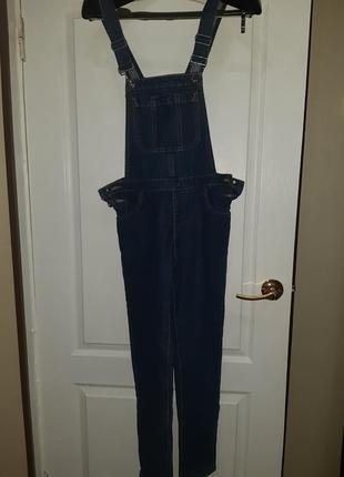 Новый джинсовый комбинезон ostin