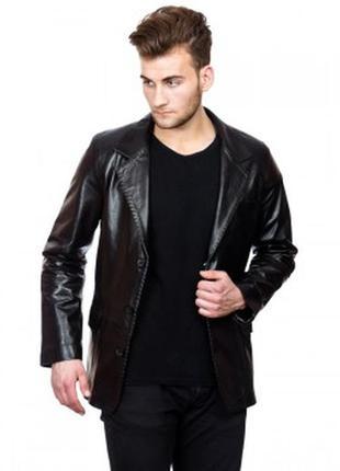 🔥🔥🔥мужской кожаный пиджак из натуральной кожи, демисезонный a.m.i london🔥🔥🔥