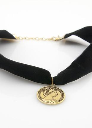 Колье чокер монета елизаветы распродажа