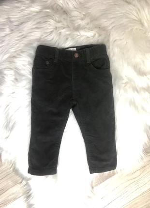 Вельветовые штаны штанишки zara 9-12 месяцев