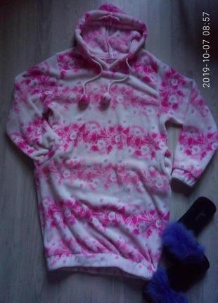 Обалденное плюшевое, нежное платье, туника для дома и сна