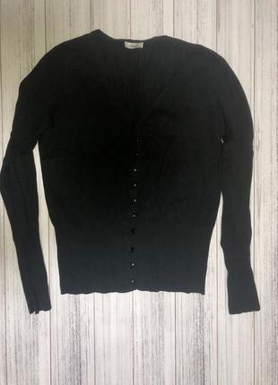 Кофта на пуговицах,черная кофта