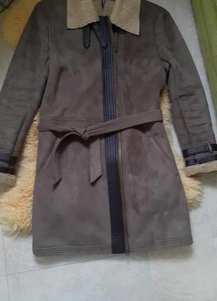Искуственная дублёнка утеплённая куртка