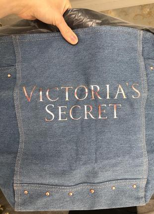 Сумка victoria secret джинсовая
