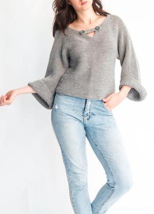 Стильный свитер вязаная кофта
