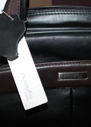 Кожаная сумка портфель enzorossi milano