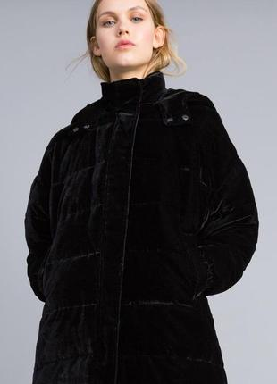 Модный тренд 2019 бархатный пуховик пальто oversize италия