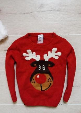 Классный яркий новогодний свитерок rebel