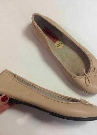 Туфли балетки london rebel 38 натуральная кожа беж