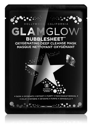 Кислородная очищающая тканевая маска glamglow bubblesheet oxygenating deep cleanse mask