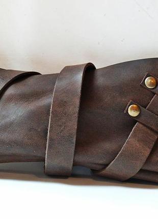 Кожаный клатч ручной работы