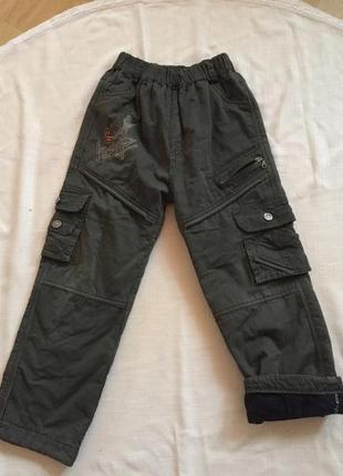 Теплые брюки на толстом флисе