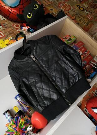 Кожаная куртка кожанка river island на 2-3 года, 92-98