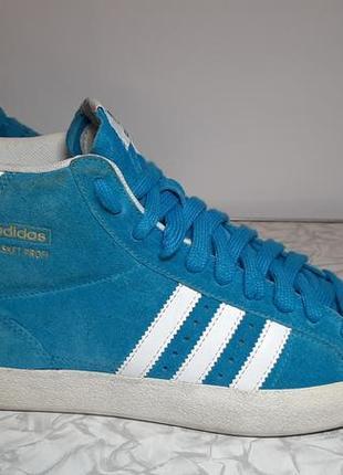 Замшевые кроссовки,ботинки adidas (адидас) basket profi, 37р,стелька24см