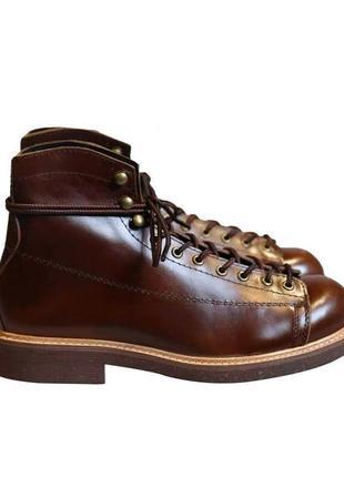Ботинки кожаные old school, шкіряні черевики чоловічі