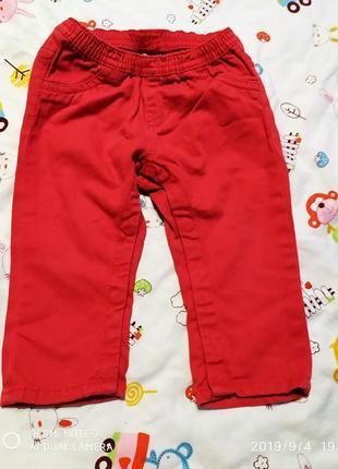 Штаны джинс, штани красные, червоні джинси