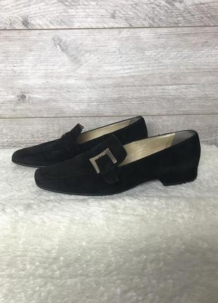 Стильные замшевые лоферы туфли от дорогого  бренда  peter kaiser