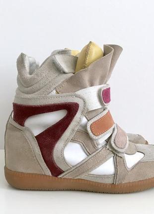 Яркие сникерсы хайтопы кроссовки