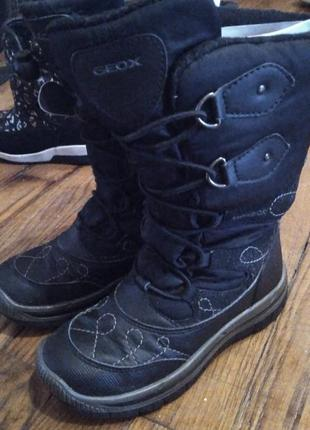 Теплые ботинки сапоги