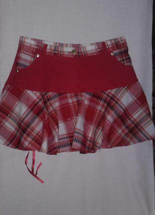 Красная летняя юбка
