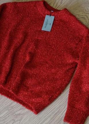 Нарядный объёмный свитер от  h&m