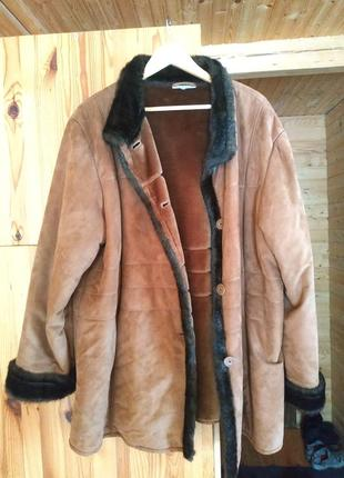 Дублёнка куртка меховая женская большого размера