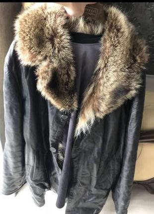 Мужская куртка-дубленка на меху.