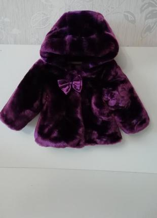 Детская шубка, пальто меховое, курточка для девочки