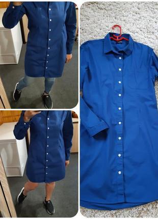 Стильная яркая платье-рубашка, blue motion, p. 40-42