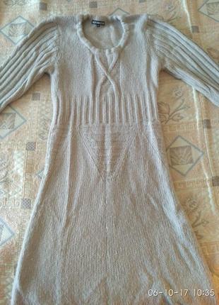 Теплое стильное платье на осень зиму альпака
