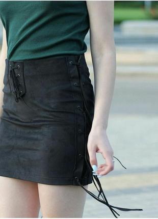 Замшевая летняя юбка от украинского бренда harvest