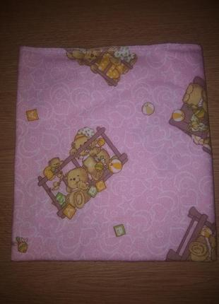 Пеленка фланель медвежатка размер 90/95*110