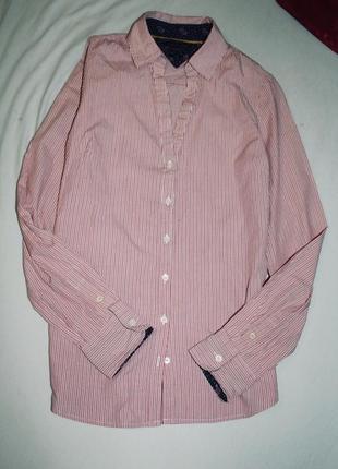 Женская рубашка в полоску tommy hilfiger
