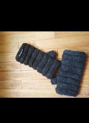 Стильные вязаные минетки перчатки без пальчиков