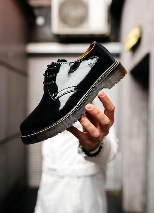 Шикарные женские туфли dr. martens black чёрные😃 (весна лето осень )