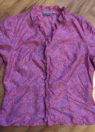 Шелковая французская блуза от stella cadente! oг-94 см
