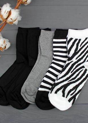 Набор высоких хлопковых носков 5 пар tezenis