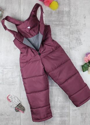 Классные зимние полу-комбинезоны для девочки!