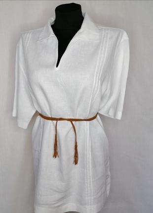 Белая льняная рубашка от next